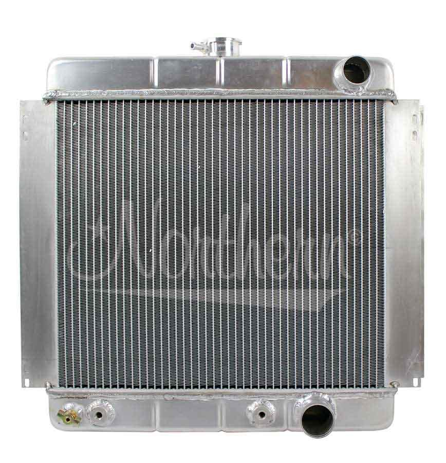 Northern Radiator 205214 Radiator, 19-3/4 W x 21-7/8 H x 2-1/2 D in, Passenger Side Inlet, Passenger Side Outlet, Aluminum, Natural, Ford 1964-73, Each