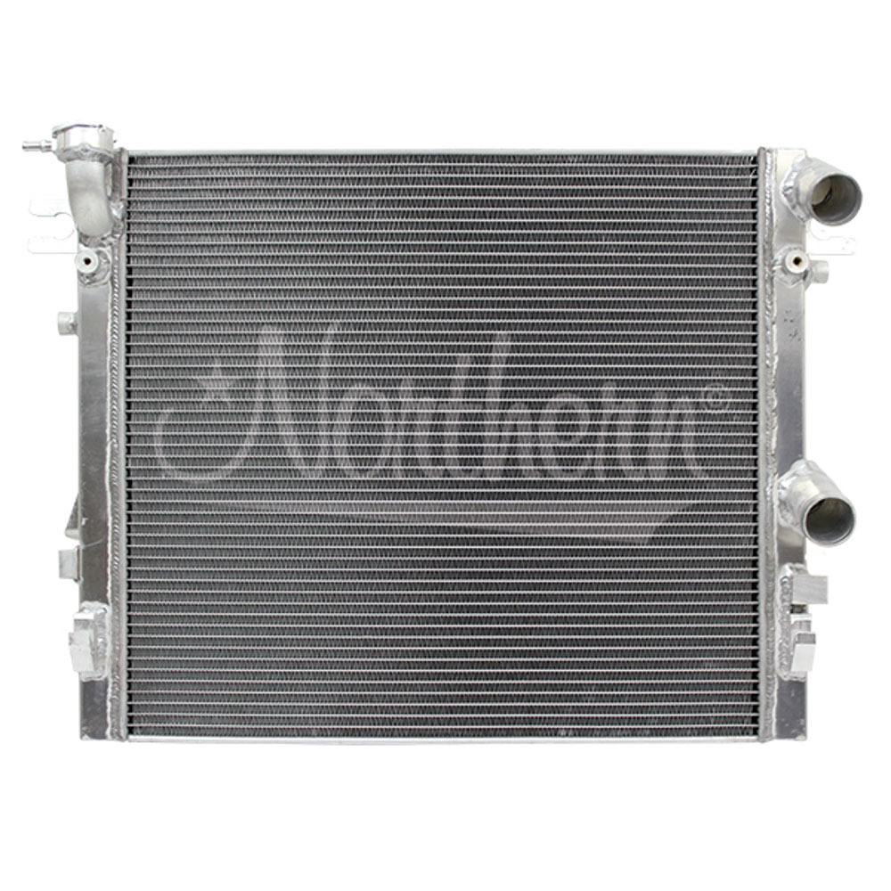 Northern Radiator 205219 Radiator, 25-1/4 x 21-1/8 x 2 in, Passenger Side Inlet, Passenger Side Outlet, Aluminum, Jeep Wrangler w/Hemi 2007-18, Each