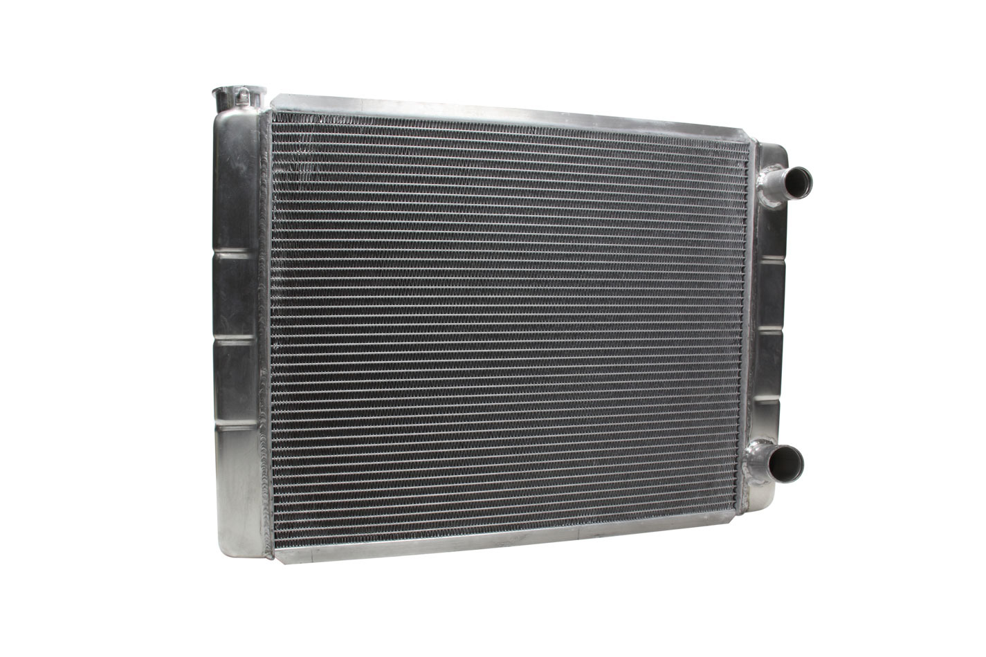 Northern Radiator 209624 Radiator, 28 W x 19 H x 3 1/8 D, Dual Pass, Passenger Side Inlet, Passenger Side Outlet, Aluminum, Natural, GM, Each