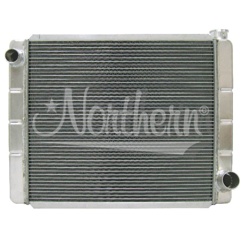 Northern Radiator 209675 Radiator, Race Pro, 26 x 19 x 3-1/8 in, Driver Side Inlet, Passenger Side Outlet, Aluminum, Each