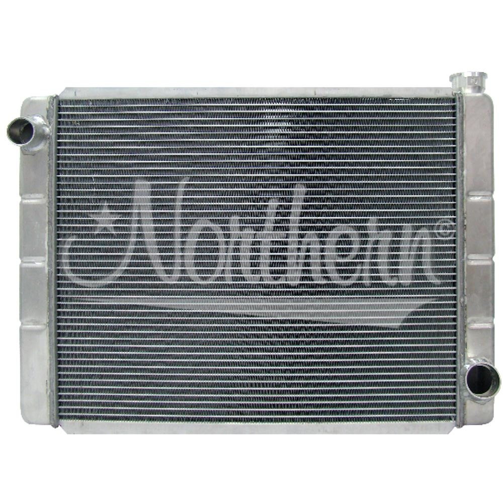 Northern Radiator 209676 Radiator, Race Pro, 28 x 19 x 3-1/8 in, Driver Side Inlet, Passenger Side Outlet, Aluminum, Each