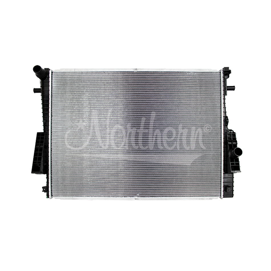 Northern Radiator CR13022 Radiator, 37 in W x 27-1/2 in H x 2-11/16 in D, Driver Side Inlet, Passenger Side Outlet, Aluminum/Plastic, Natural/Black, 6.4/6.8 L, Ford Fullsize Truck 2008-10, Each