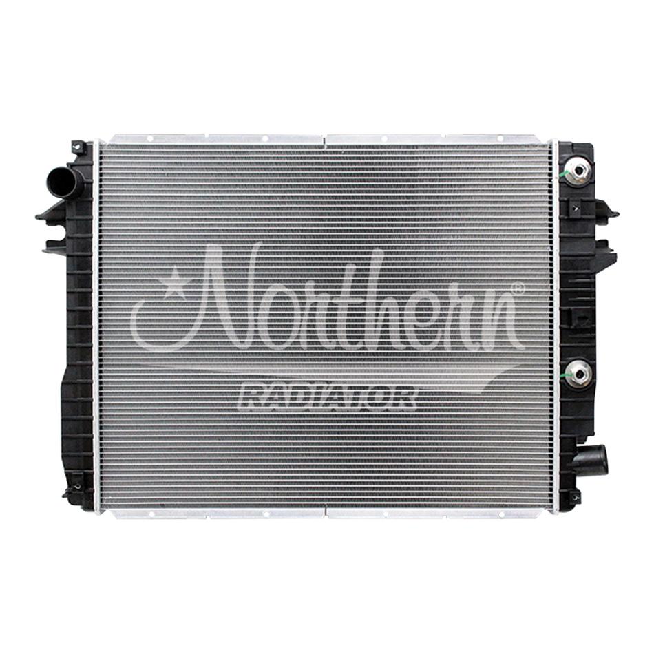 Northern Radiator CR13490 Radiator, 26-5/8 in W x 21-7/8 in H x 1-5/8 in D, Driver Side Inlet, Passenger Side Outlet, Aluminum / Plastic, Natural / Black, 6.7 L, Dodge Fullsize Truck 2013-18, Each
