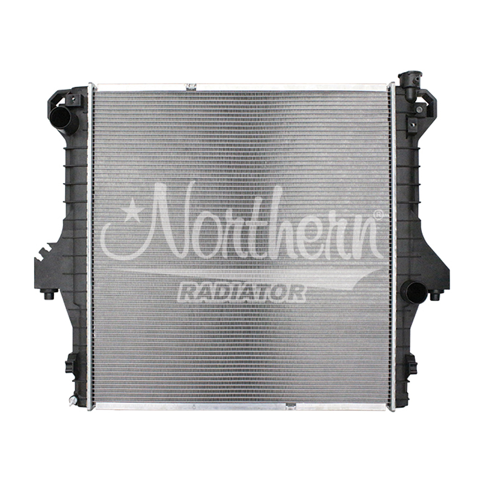 Northern Radiator CR2711 Radiator, 27 in W x 29-1/4 in H x 1-5/8 in D, Driver Side Inlet, Passenger Side Outlet, Aluminum / Plastic, Natural / Black, 5.9 / 6.7 L, Dodge Fullsize Truck 2003-09, Each