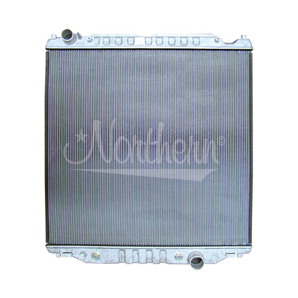 Northern Radiator CR2887 Radiator, 28-5/8 in W x 29-7/8 in H x 1-1/4 in D, Driver Side Inlet, Passenger Side Outlet, Aluminum, Natural, 6 / 6.8 L, F250, Ford Fullsize Truck 2003-09, Each