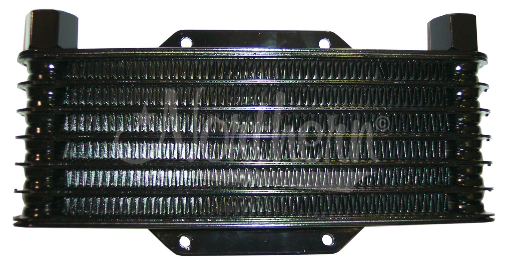 Northern Radiator Z18027 Fluid Cooler, High Efficiency, 7-1/2 x 4 x 1-1/4 in, 1/2 in NPT Inlet / Outlet, Plate and Fin, Hardware Included, Aluminum, Black, Universal, Kit