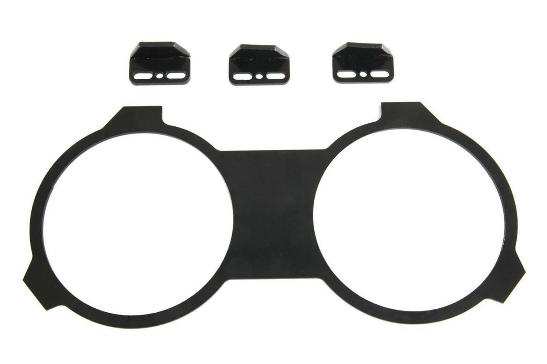 New Vintage 88001-09 Gauge Bracket, Plastic, Black, 4-3/8 in New Vintage Gauges, GM F-Body 1967-68, Each