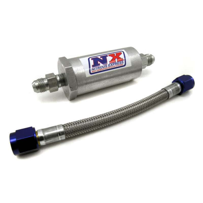 Nitrous Express D-4 Pure-Flo Filter & 7in. Stainless Hose