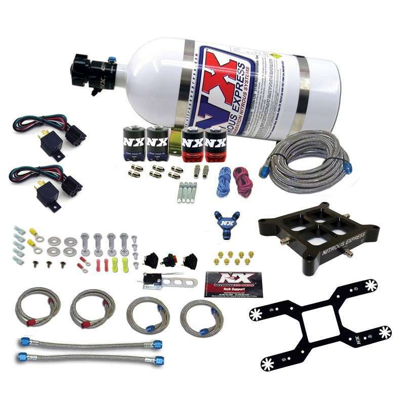 Nitrous Express 4150 Dual Stage Billet Crossbar Kit w/10lb Bott