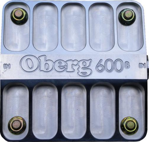 Oberg Filters 6115 Fuel / Oil Filter, 600 Series, Oberg Style, 115 Micron, Stainless Element, 12 AN Female O-Ring Inlet, 12 AN Female O-Ring Outlet, Aluminum, Polished, Each