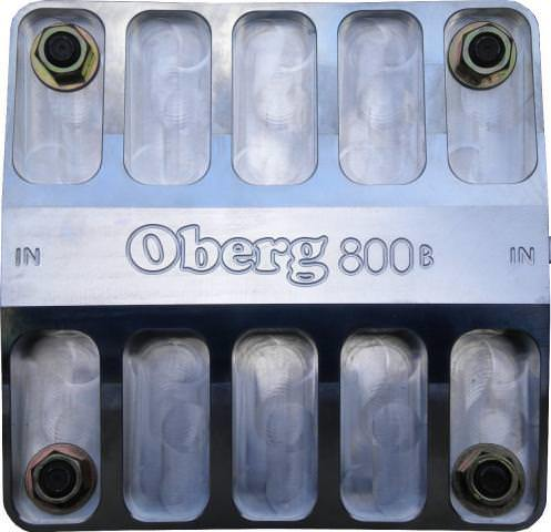 Oberg Filters 8060 Fuel / Oil Filter, 800 Series, Oberg Style, 60 Micron Stainless Element, 16 AN Female O-Ring Inlet, 16 AN Female O-Ring Outlet, Aluminum, Polished, Each