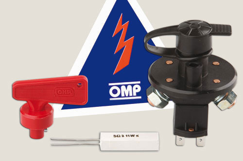 OMP Racing EA462 Battery Disconnect, 6 Pole, Rotary Switch, Panel Mount, Removable Key, Each
