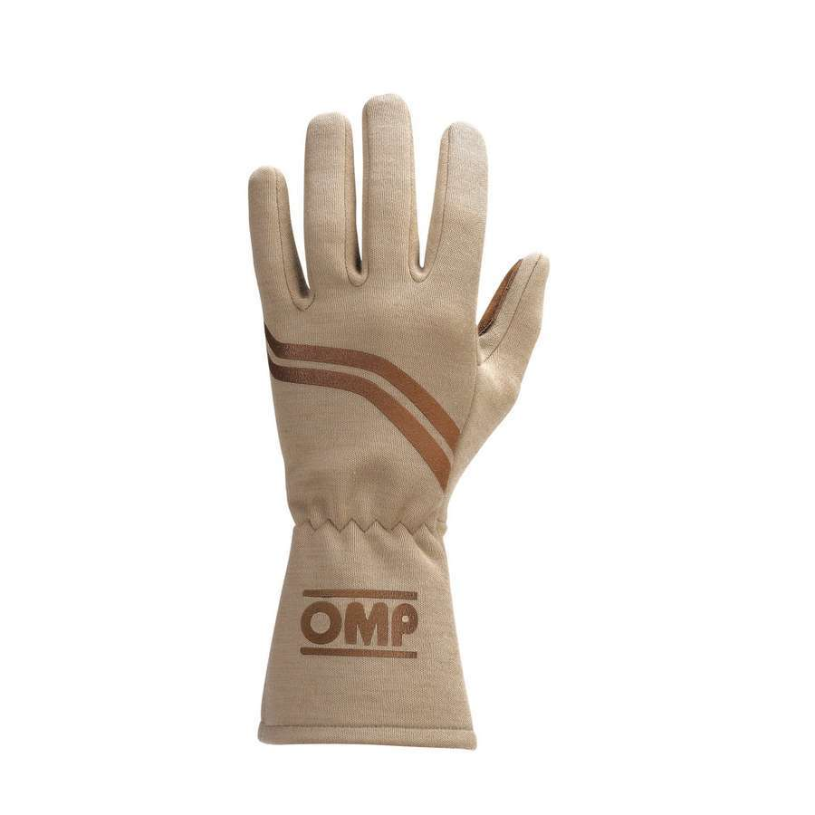 OMP Racing IB746MM Gloves, Dijon Vintage, Driving, Single Layer, Cream, Medium, Pair