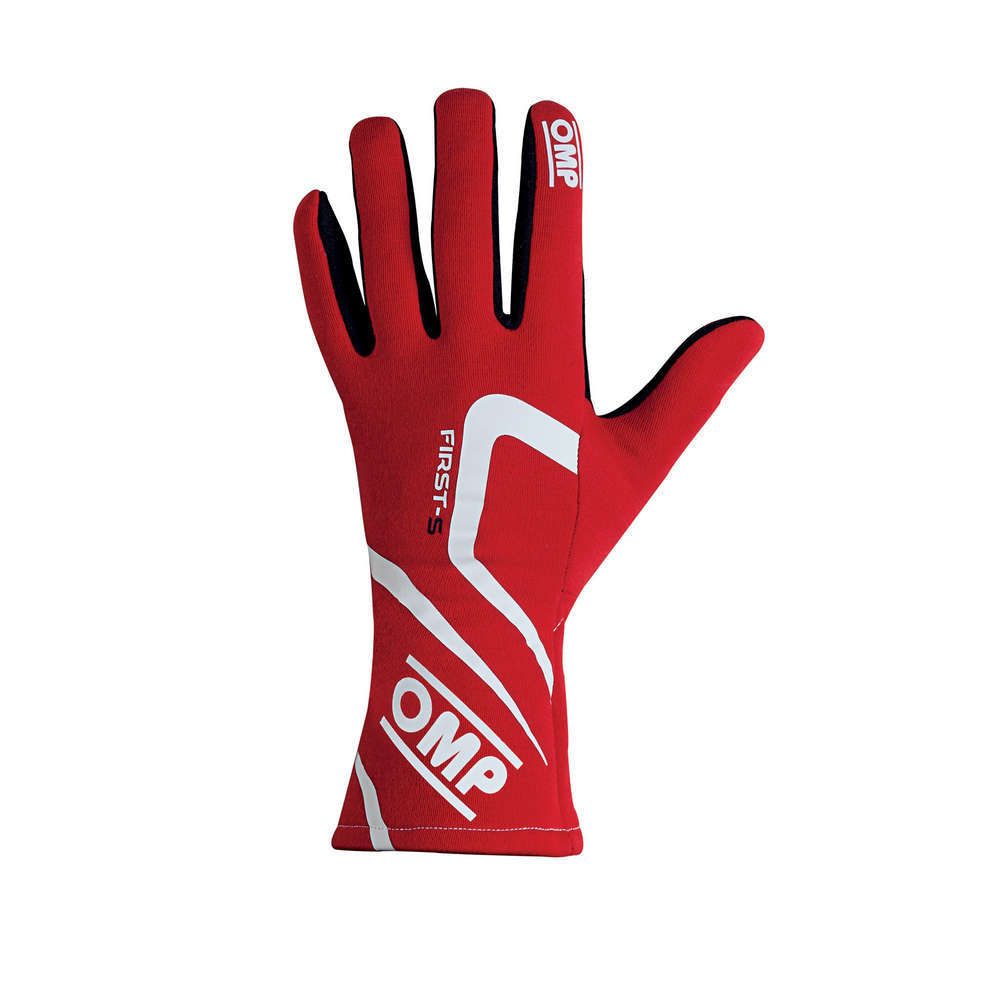 OMP Racing IB761ERXL Gloves, First-S, Driving, FIA Approved, Double Layer, Fire Retardant Fabric, Red, X-Large, Pair