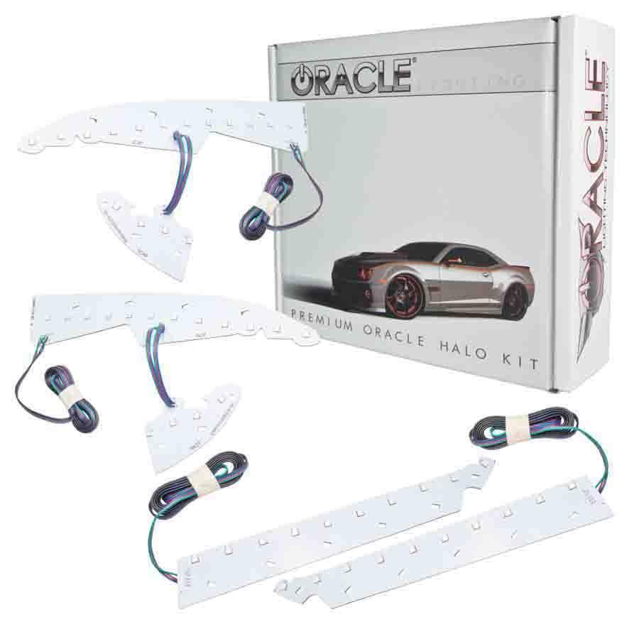 14-  GMC Sierra LED Halo Headlight Kit Colorshift