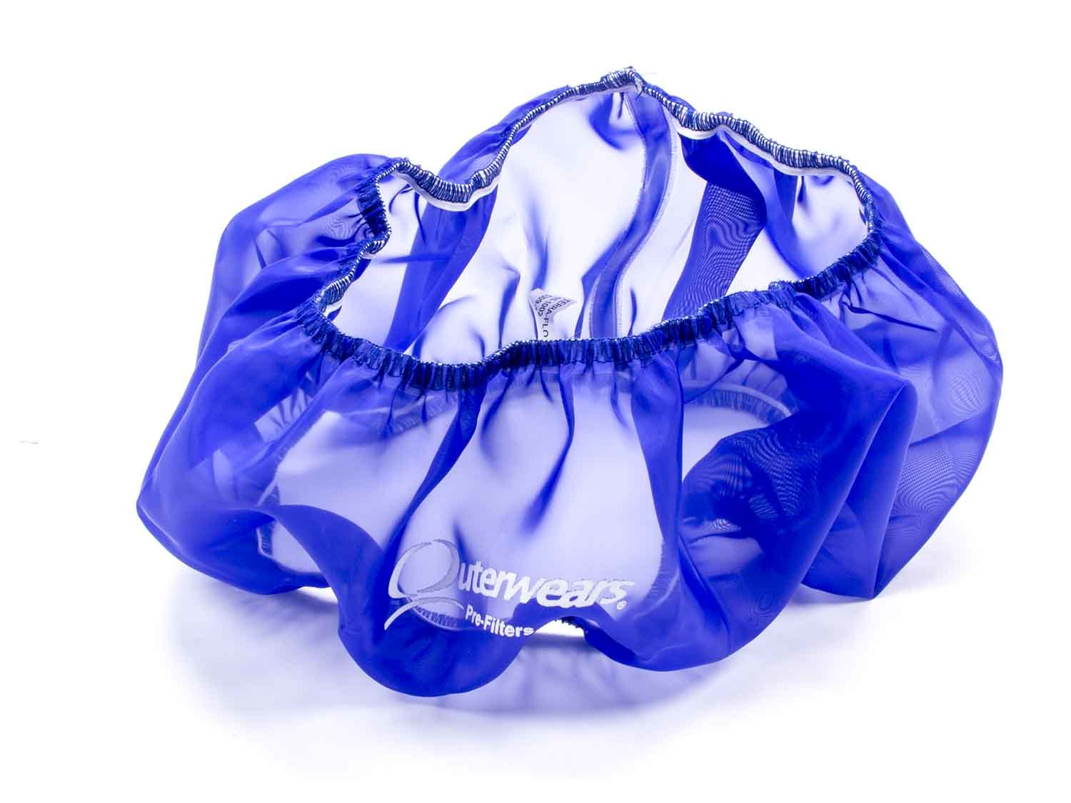 Outerwears 10-1002-02 Air Filter Wrap, Pre Filter, 14 in OD, 4 in Tall, Polyester, Blue, Each