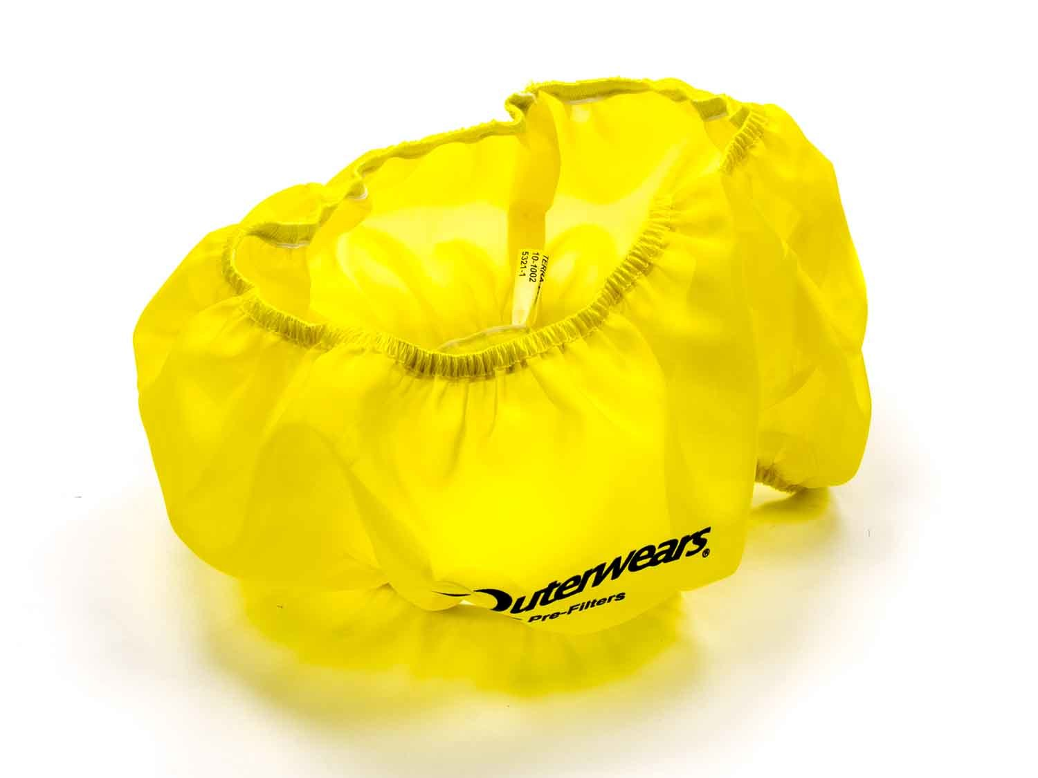 Outerwears 10-1002-04 Air Filter Wrap, Pre Filter, 14 in OD, 4 in Tall, Polyester, Yellow, Each