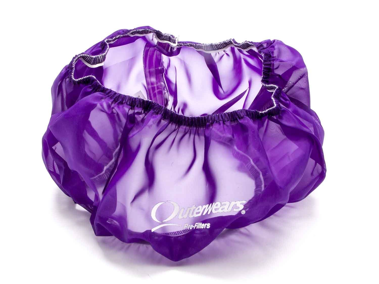 Outerwears 10-1002-07 Air Filter Wrap, Pre Filter, 14 in OD, 4 in Tall, Polyester, Purple, Each