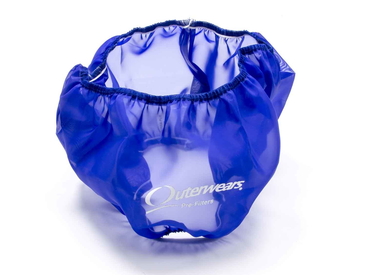 Outerwears 10-1004-02 Air Filter Wrap, Pre Filter, 14 in OD, 5 in Tall, Polyester, Blue, Each