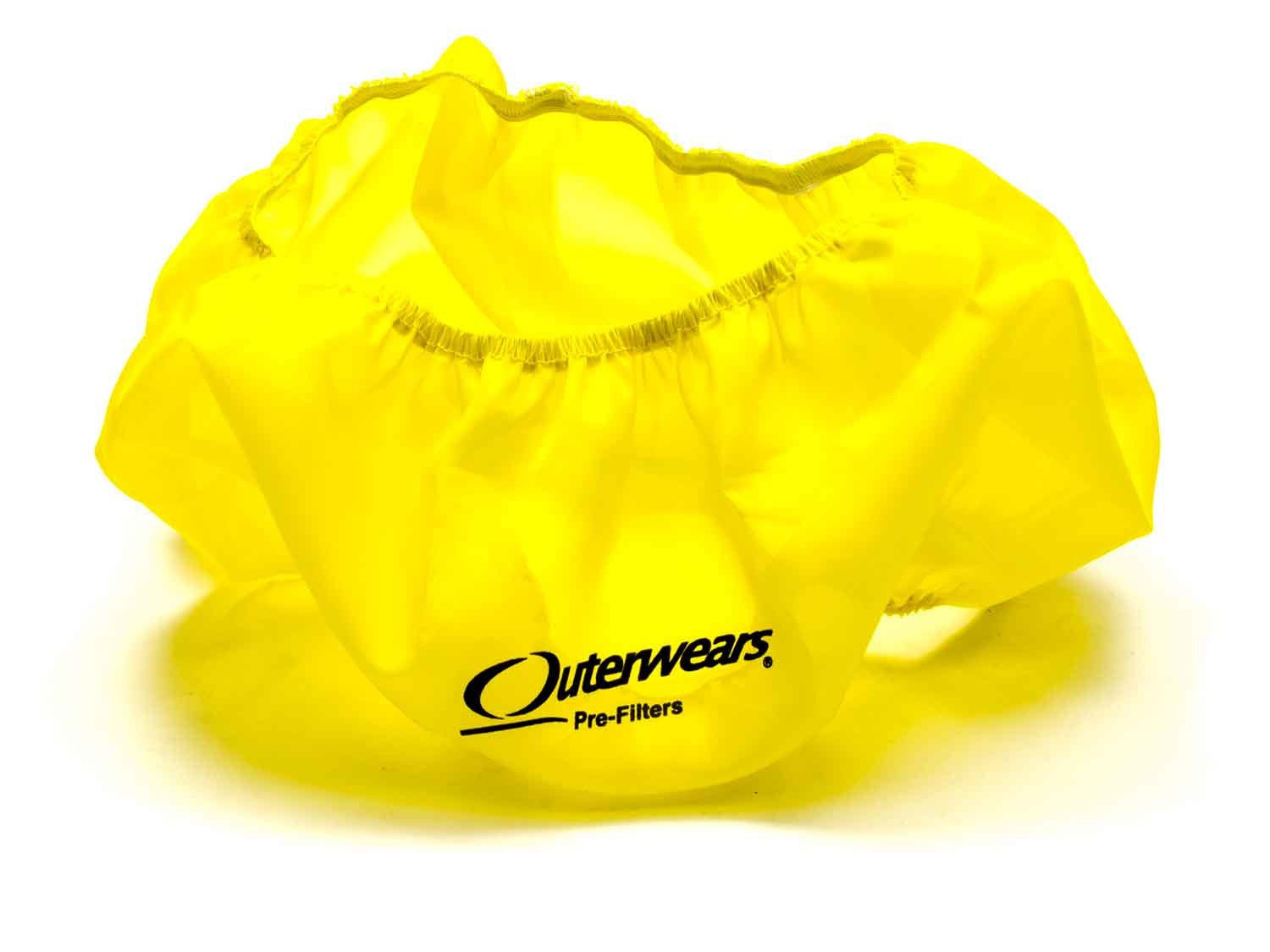 Outerwears 10-1004-04 Air Filter Wrap, Pre Filter, 14 in OD, 5 in Tall, Polyester, Yellow, Each