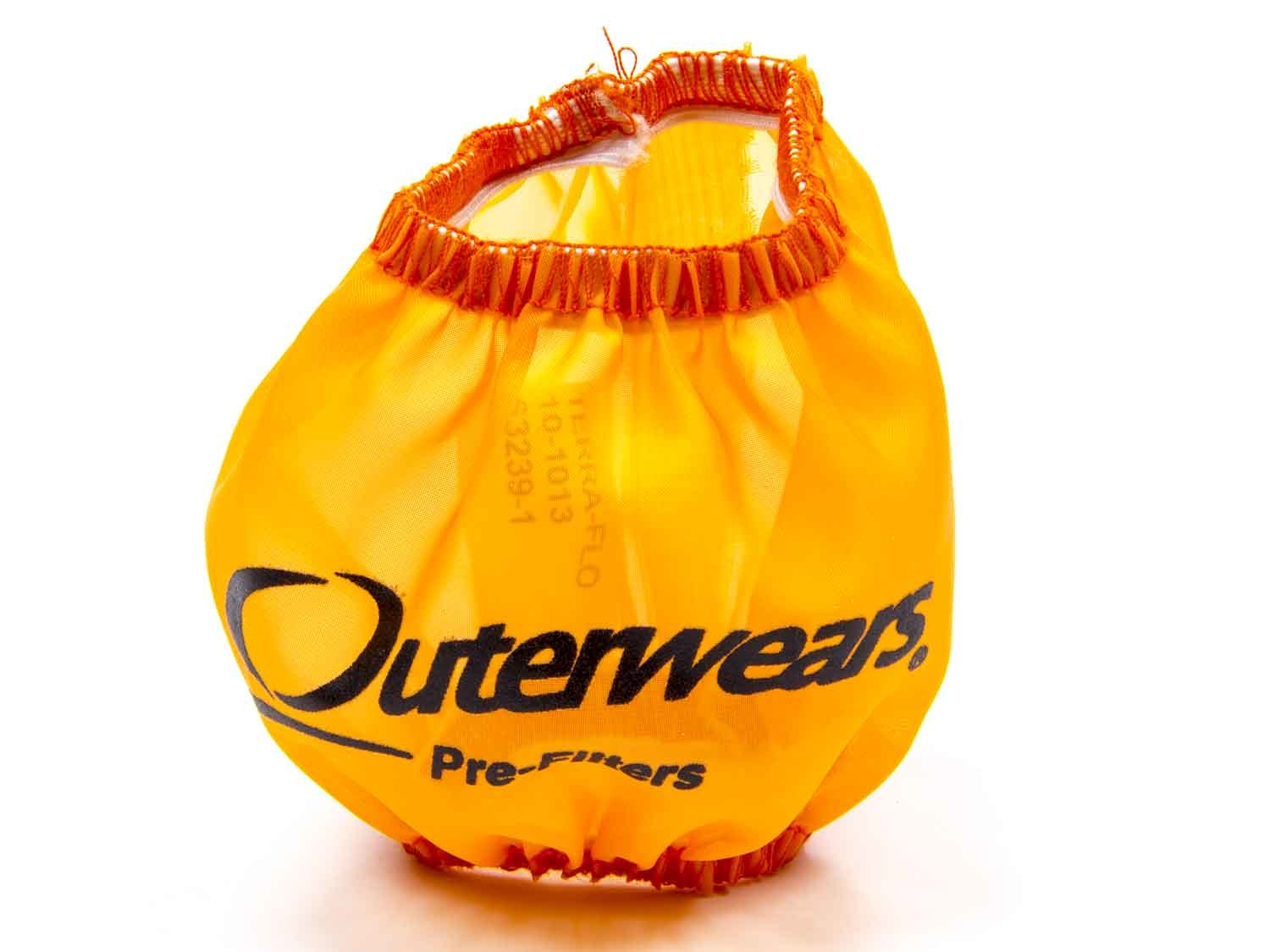 Outerwears 10-1013-05 Breather Wrap, Pre Filter, 3 in OD, 2-1/2 in Tall, Polyester, Orange, Each