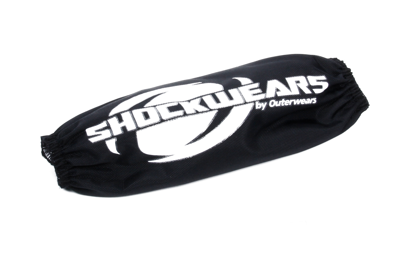 Outerwears 30-2345-01 Shock Cover, Shockwears, 5.500 in Long, Elastic Ends, Hook and Loop Closure, Polyester, Black, QM Shocks, Set of 4