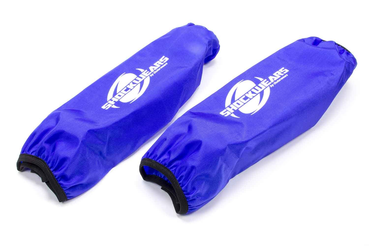 Outerwears 30-2615-02 Shock Cover, Shockwears, 13 in Long, 5.000 in OD, Elastic Ends, Hook and Loop Closure, Polyester, Blue, Pair
