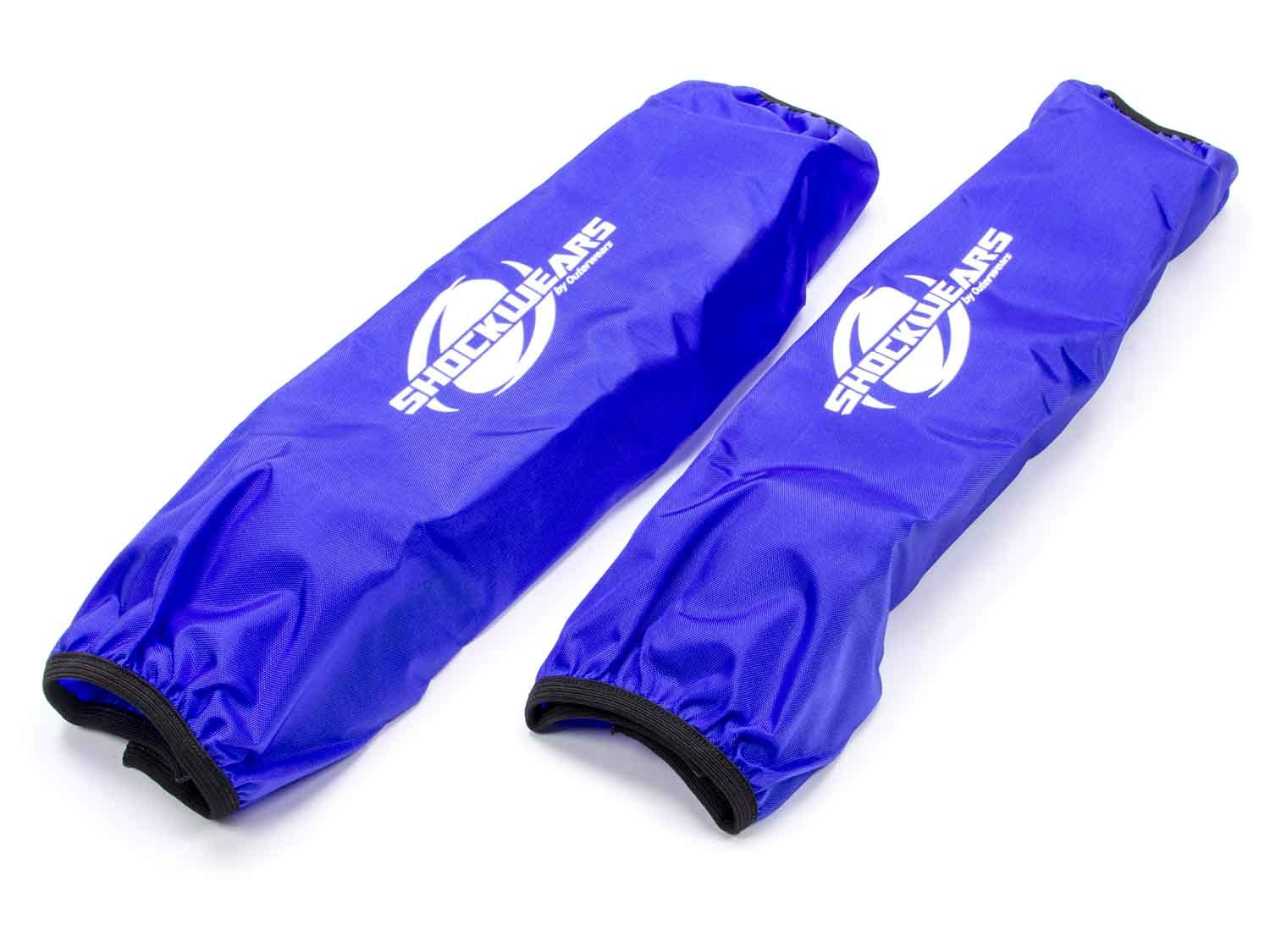Outerwears 30-2616-02 Shock Cover, Shockwears, 16 in Long, 5.000 in OD, Elastic Ends, Hook and Loop Closure, Polyester, Blue, Pair