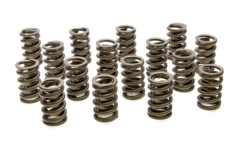 PAC Racing Springs PAC-1201 Valve Spring, 1200 Series, Single Spring / Damper, 540 lb/in Spring Rate, 1.115 in Coil Bind, 1.260 in OD, Set of 16