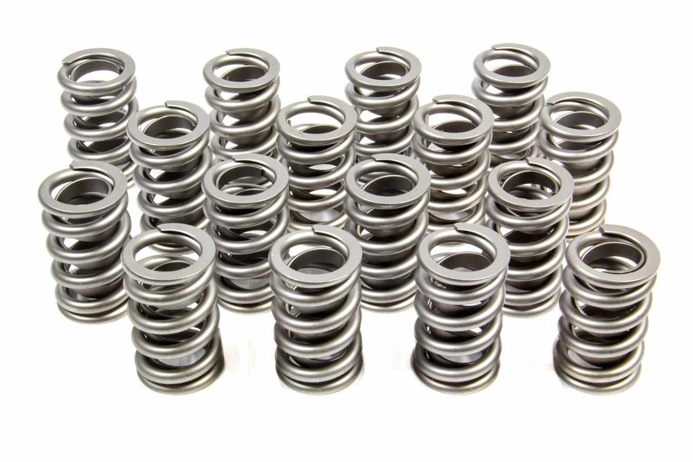 PAC Racing Springs PAC-1201X Valve Spring, RPM Series, Single Spring / Damper, 540 lb/in Spring Rate, 1.115 in Coil Bind, 1.260 in OD, Set of 16