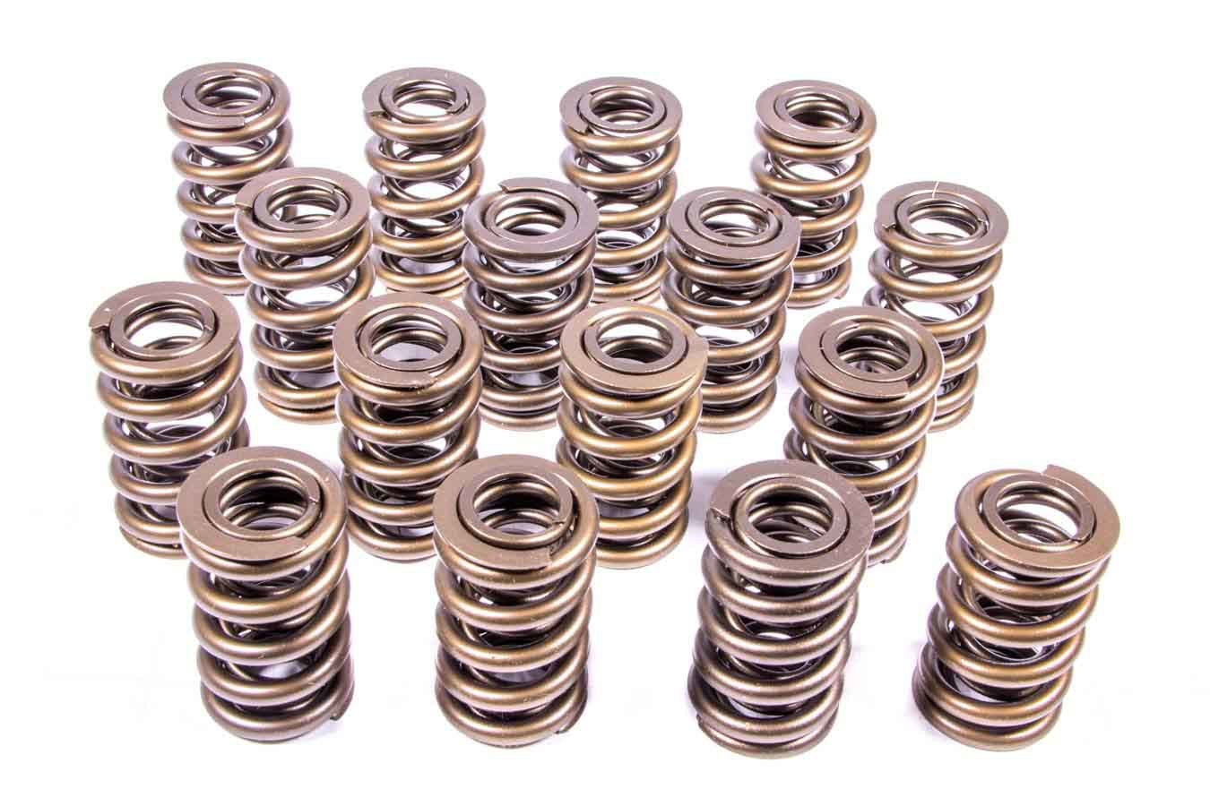 PAC Racing Springs PAC-1202 Valve Spring, 1200 Series, Dual Spring, 540 lb/in Spring Rate, 1.100 in Coil Bind, 1.244 in OD, Set of 16