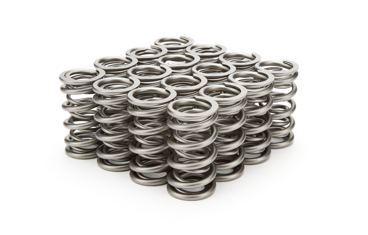 PAC Racing Springs PAC-1204X Valve Spring, RPM Series, Dual Spring, 369 lb/in Spring Rate, 1.000 in Coil Bind, 1.290 in OD, GM LS-Series, Set of 16