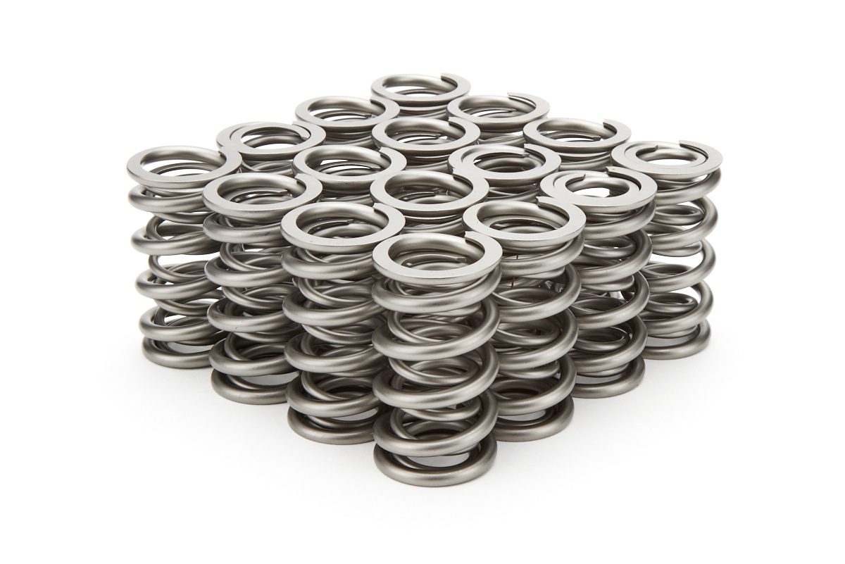 PAC Racing Springs PAC-1205X Valve Spring, RPM Series, Dual Spring, 392 lb/in Spring Rate, 1.000 in Coil Bind, 1.304 in OD, GM LS-Series, Set of 16