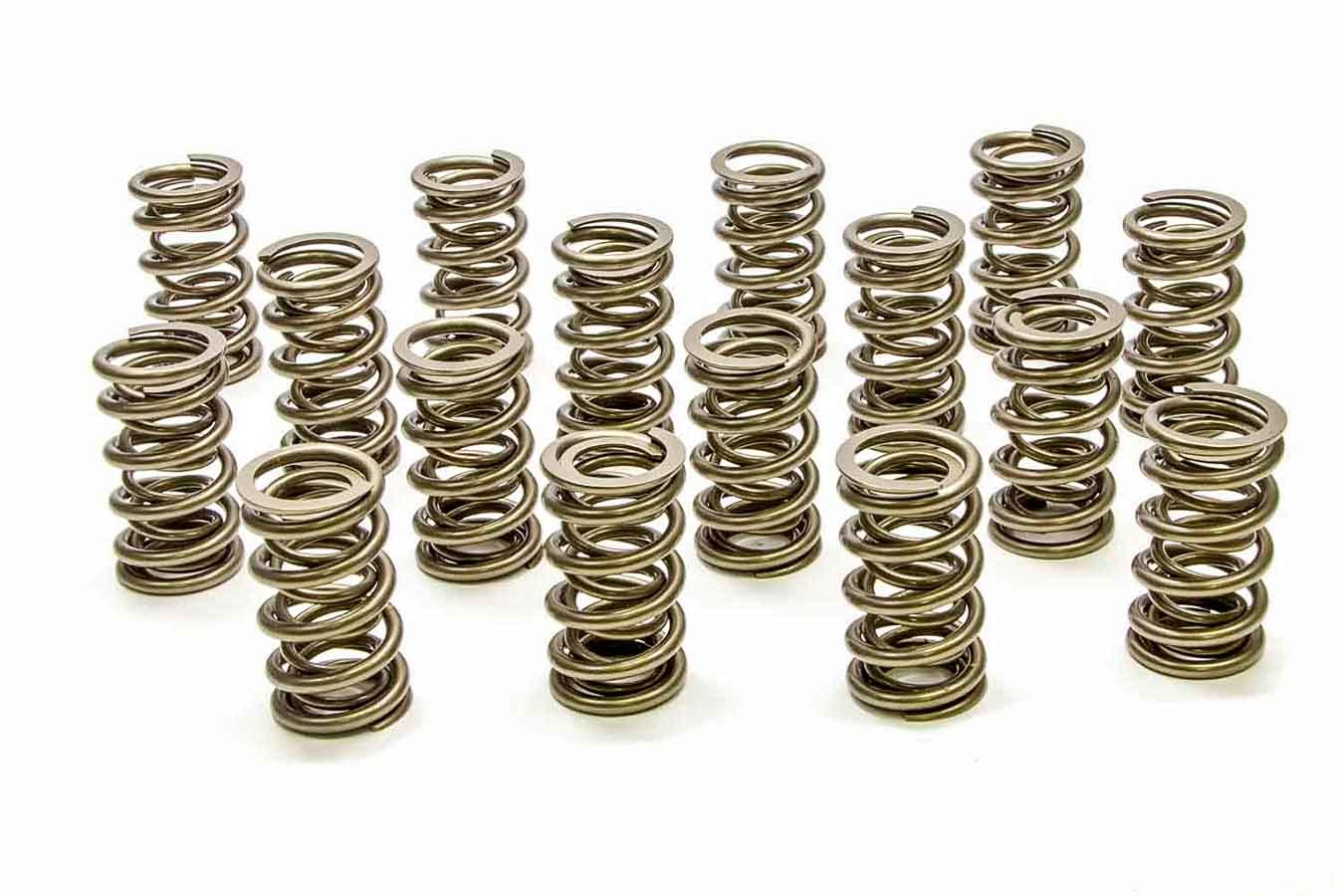 PAC Racing Springs PAC-1207X Valve Spring, RPM Series, Dual Spring, 433 lb/in Spring Rate, 1.000 in Coil Bind, 1.304 in OD, GM LS-Series, Set of 16