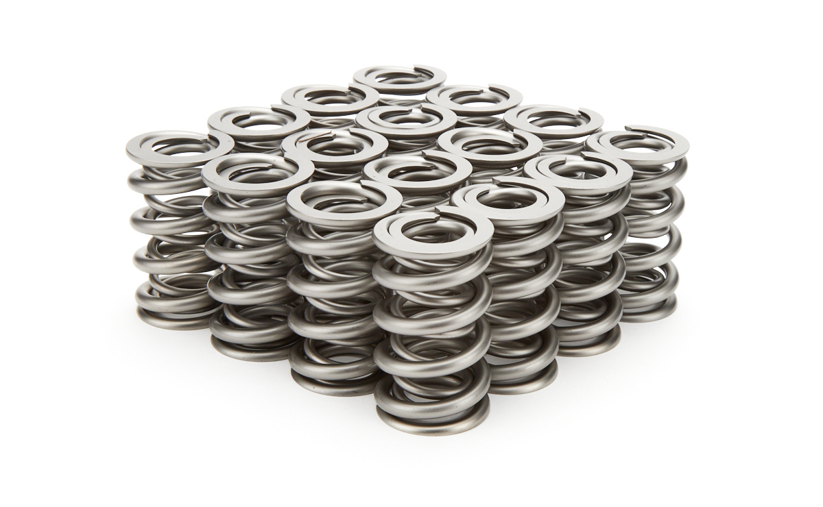 PAC Racing Springs PAC-1209X Valve Spring, RPM Series, Dual Spring, 500 lb/in Spring Rate, 1.000 in Coil Bind, 1.324 in OD, GM LS-Series, Set of 16