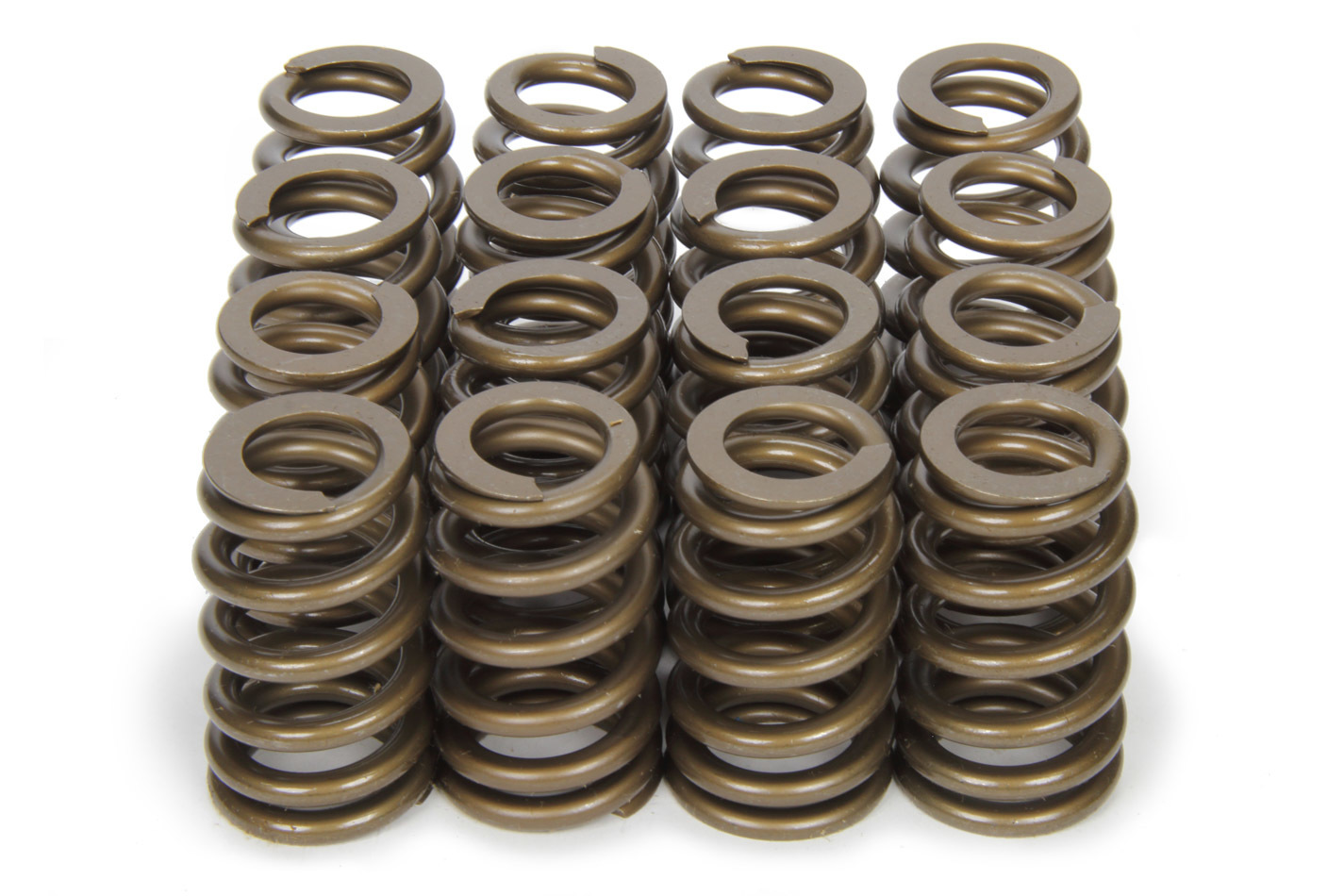 PAC Racing Springs PAC-1283 Valve Spring, 1200 Series, Ovate Beehive Spring, 363 lb/in Spring Rate, 1.180 in Coil Bind, 1.282 in OD, Set of 16