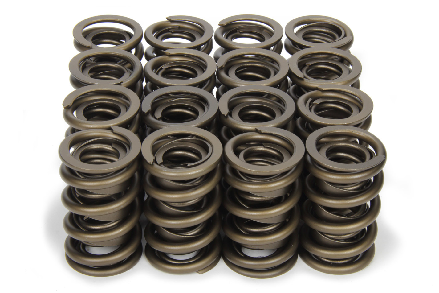PAC Racing Springs PAC-1297 Valve Spring, RPM Series, Dual Spring / Damper, 500 lb/in Spring Rate, 1.130 in Coil Bind, 1.539 in OD, Set of 16