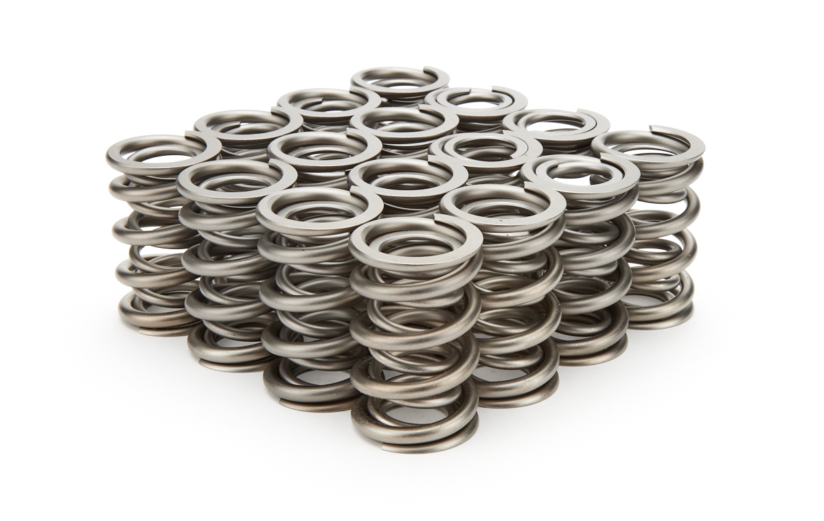 PAC Racing Springs PAC-1343 Valve Spring, 1300 Series, Dual Spring, 550 lb/in Spring Rate, 1.150 in Coil Bind, 1.550 in OD, Set of 16