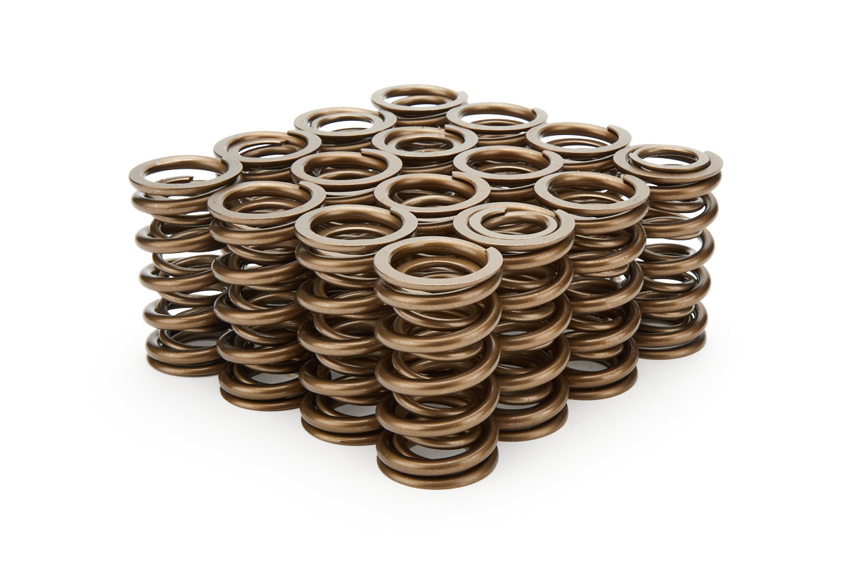 PAC Racing Springs PAC-1371 Valve Spring, 1300 Series, Dual Spring, 436 lb/in Spring Rate, 1.190 in Coil Bind, 1.374 in OD, Set of 16
