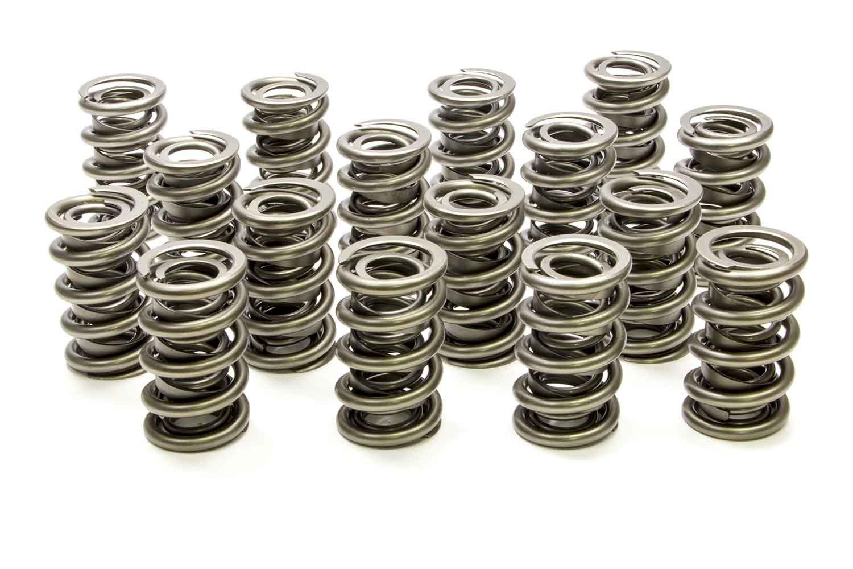 PAC Racing Springs PAC-1385 Valve Spring, 1300 Series, Dual Spring / Damper, 525 lb/in Spring Rate, 1.140 in Coil Bind, 1.564 in OD, Set of 16