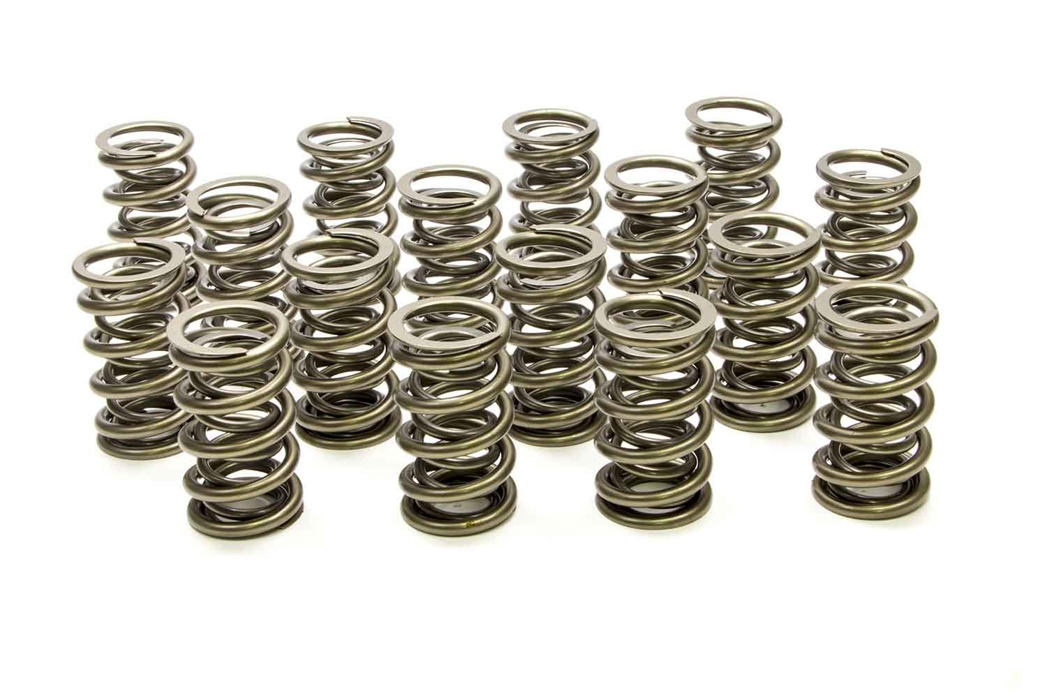 PAC Racing Springs PAC-1386 Valve Spring, 1300 Series, Dual Spring, 513 lb/in Spring Rate, 1.150 in Coil Bind, 1.564 in OD, Set of 16
