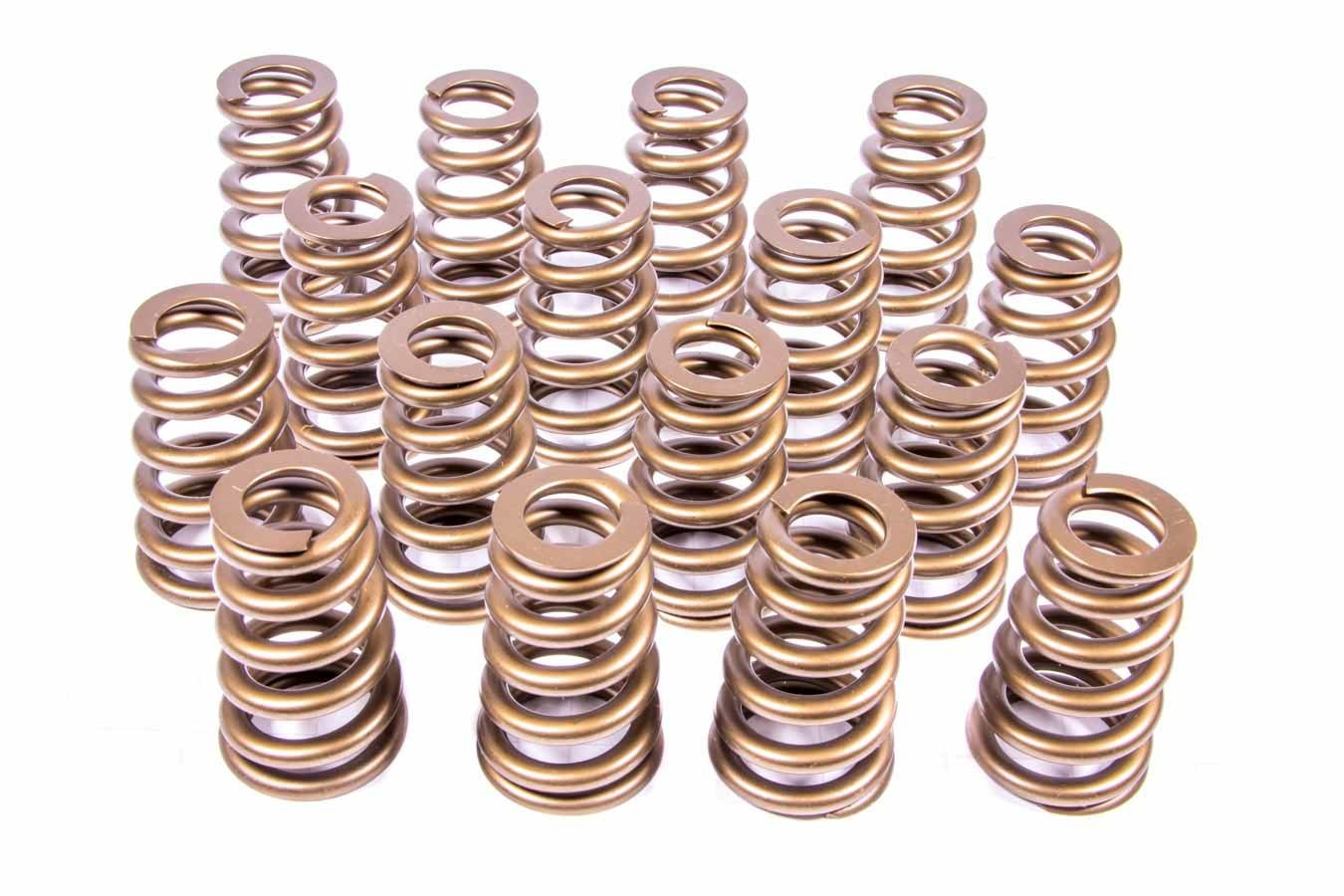 PAC Racing Springs PAC-1427 Valve Spring, 1400 Series Stock Eliminator, Ovate Beehive Spring, 500 lb/in Spring Rate, 1.190 in Coil Bind, 1.454 in OD, Big Block Chevy, Set of 16