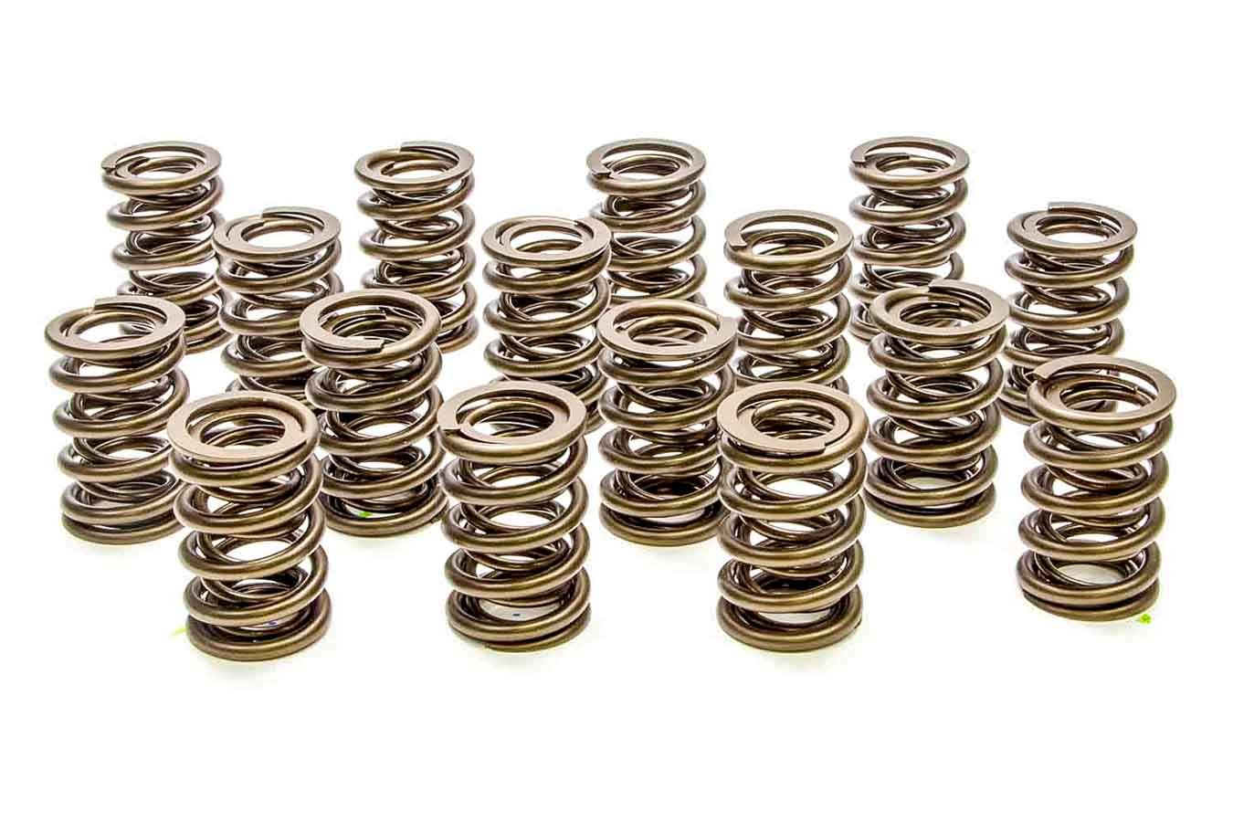 PAC Racing Springs PAC-1908 Valve Spring, Hot Rod Series, Dual Spring, 417 lb/in Spring Rate, 0.910 in Coil Bind, 1.465 in OD, Set of 16