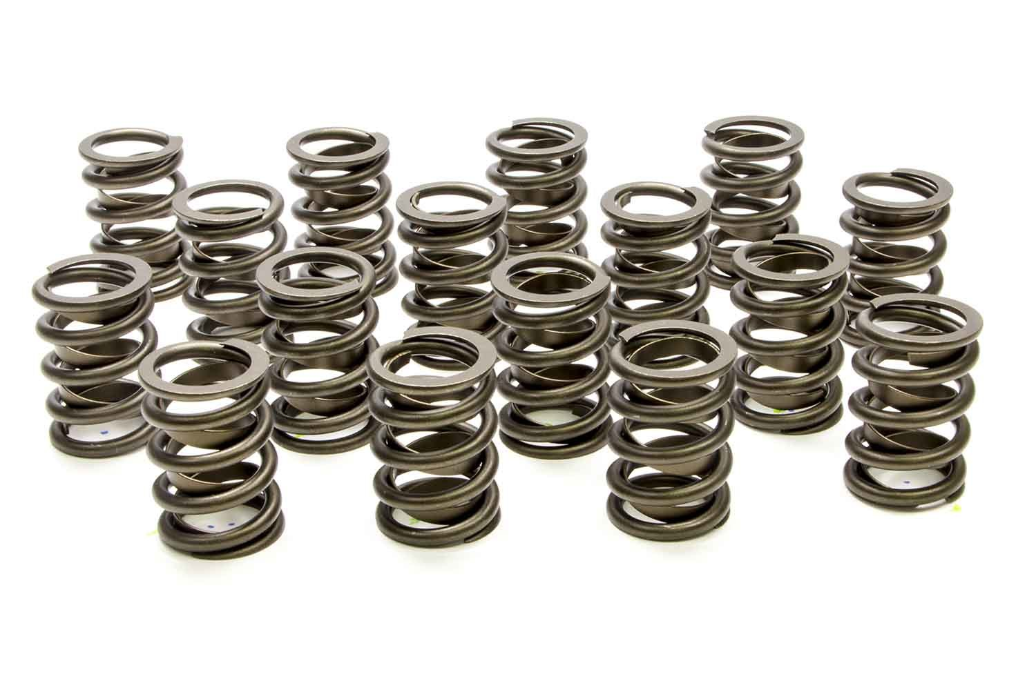 PAC Racing Springs PAC-1909 Valve Spring, Hot Rod Series, Single Spring / Damper, 402 lb/in Spring Rate, 1.150 in Coil Bind, 1.255 in OD, Small Block Chevy, Set of 16