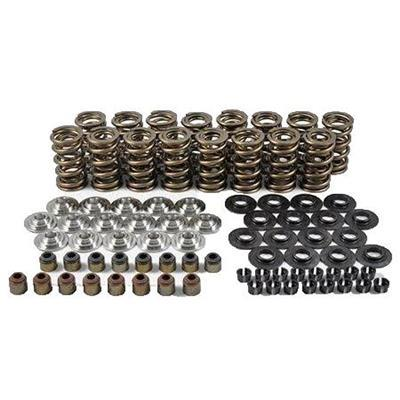 PAC Racing Springs PAC-KS15 Valve Spring Kit, Dual Spring, 370 lb/in Rate, 1.010 in Coil Bind, 1.290 in OD, Chromoly Retainer, Viton Seal, Steel Seat, GM LS-Series, Kit
