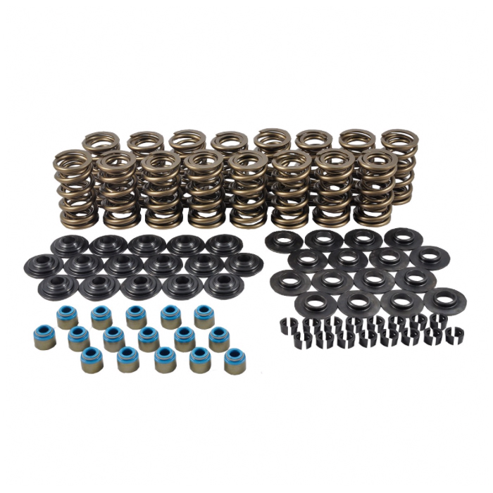 PAC Racing Springs PAC-KS33 Valve Spring, RPM Series, Dual Spring, 460 lb/in Spring Rate, 1 in Coil Bind, 1.324 in OD, Retainers / Locks Included, GM LS-Series, Kit