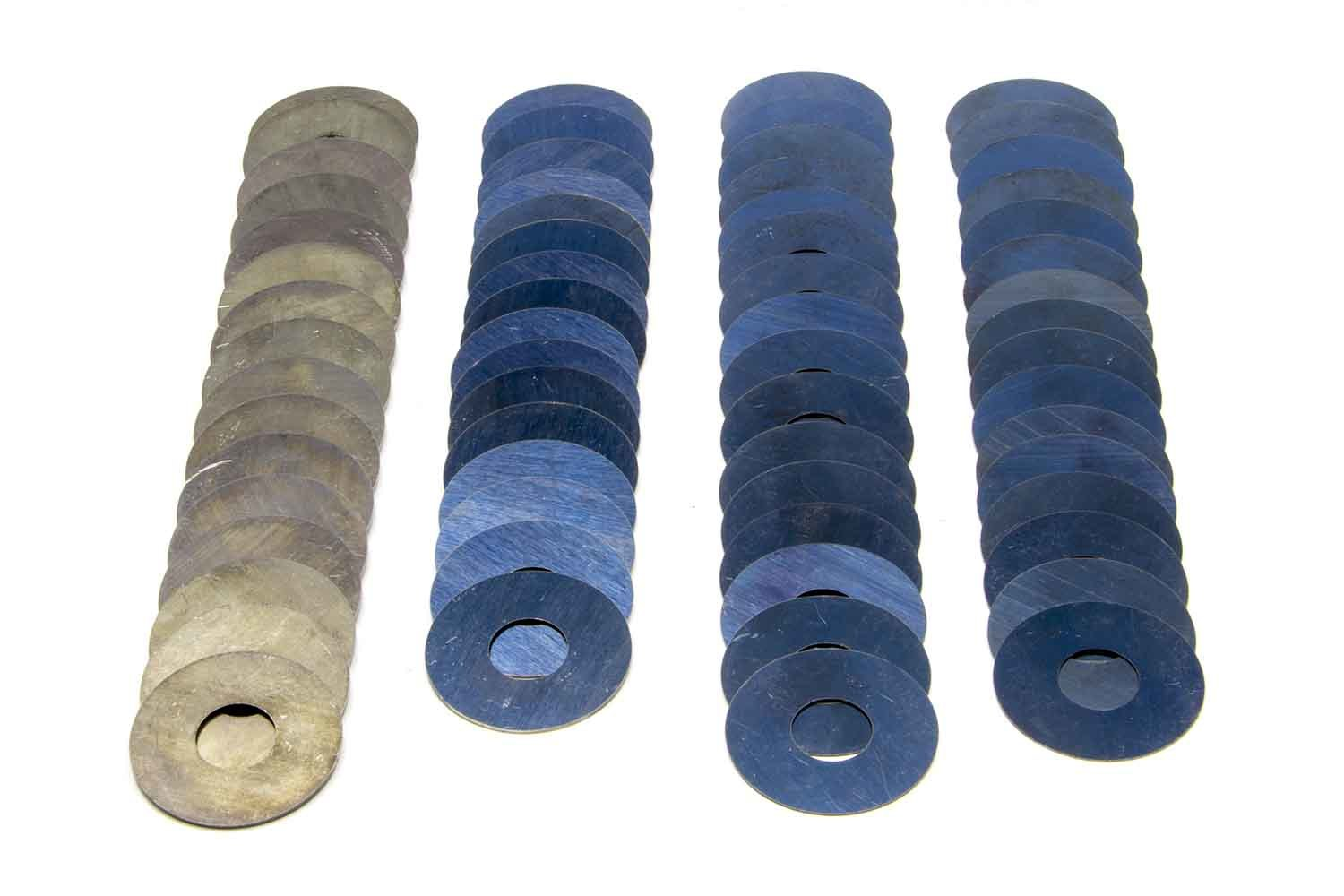 PAC Racing Springs PAC-KS94 Valve Spring Shim, 0.015 / 0.020 / 0.030 / 0.050 in Thick, 1.500 in OD, 0.570 in ID, Steel, Kit
