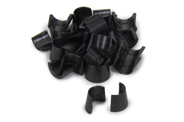 PAC Racing Springs PAC-L8127 Valve Lock, Mini 8 Degree, 3/8 in Valve Stem, Standard Height, Steel, Black, Set of 32