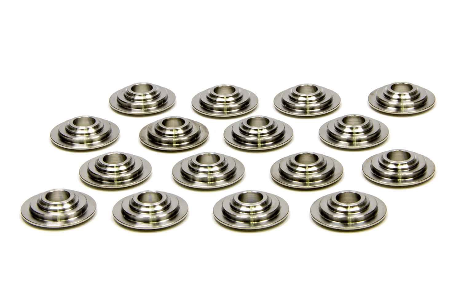 PAC Racing Springs PAC-R435 Valve Spring Retainer, 400 Series, 7 Degree, 0.940 in / 0.680 in OD Steps, Dual Spring, Titanium, GM LS-Series, Set of 16