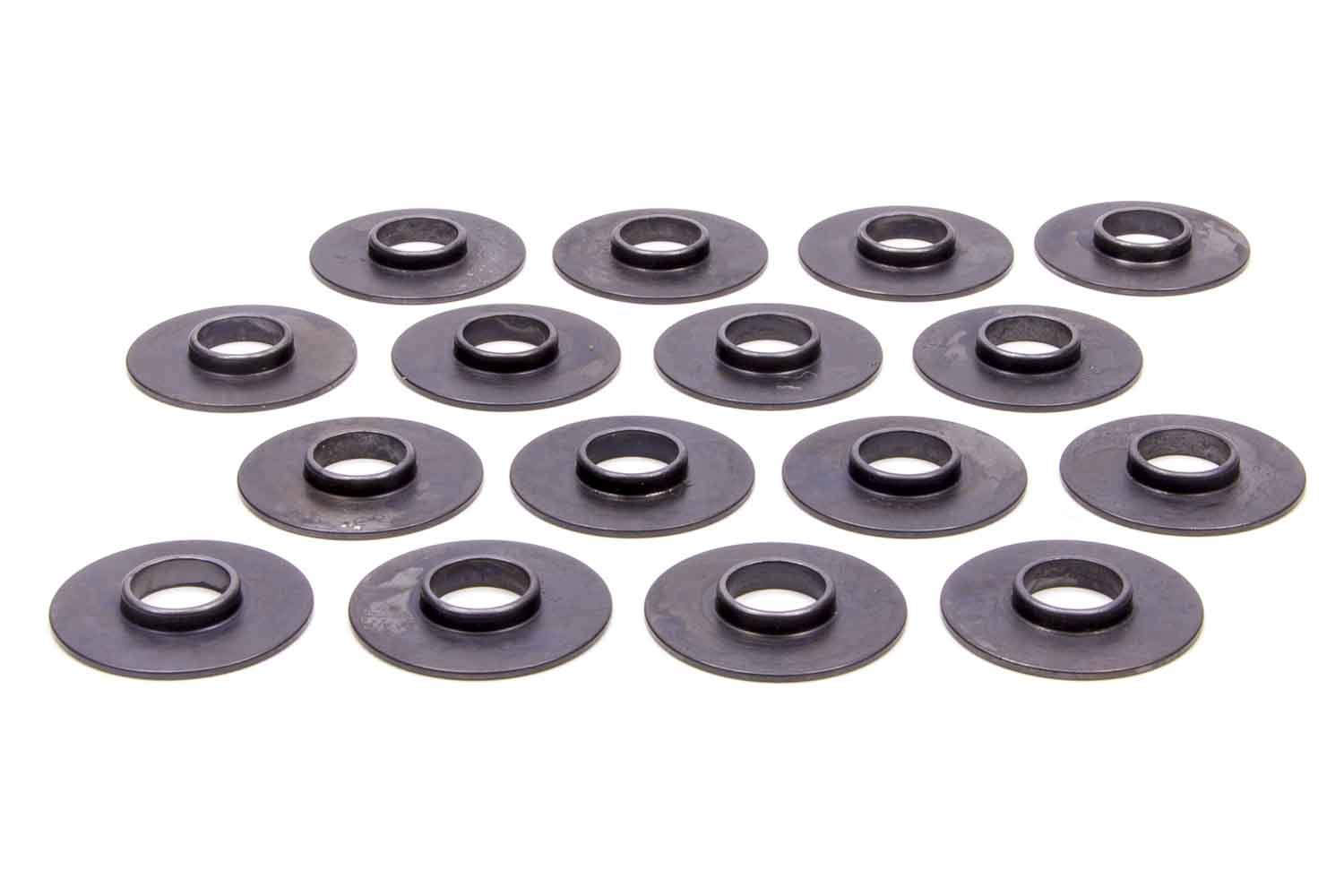 PAC Racing Springs PAC-S130 Valve Spring Locator, Inside, 0.060 in Thick, 1.550 in OD, 0.575 in ID, 0.820 in Spring ID, Chromoly, Set of 16